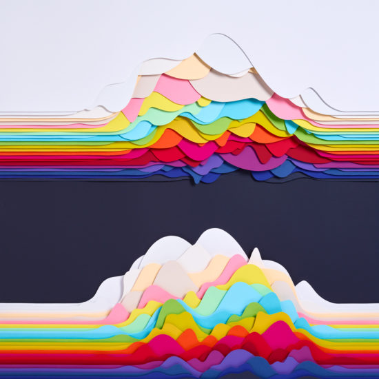 studio Maud Vantours paper art paper sculpture paper design Landscapes Paris